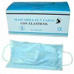 Mascarillas de 3 capas de Polipropileno con Elàsticos