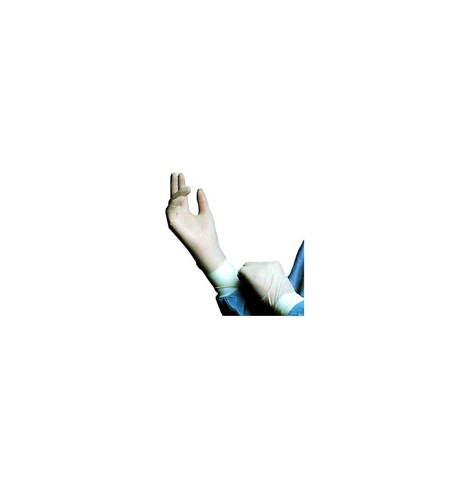 Guantes Esteriles de látex sin polvo talla M (7)