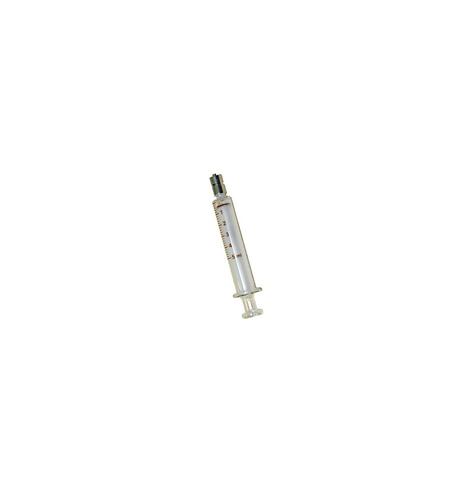 Jeringa de Cristal de 5 ml. con Luer-Lock central
